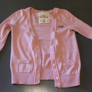 Hollister Light pink cardigan